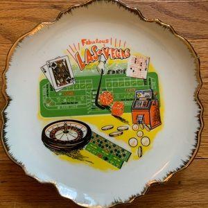 Vintage Las Vegas Souvenir Plate